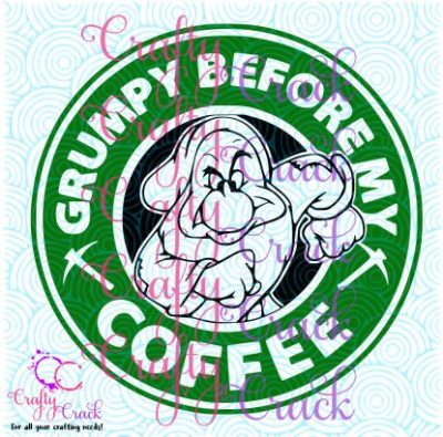 Grumpy Before My Coffee SVG, DXF, PNG - Digital Download for Silhouette Studio, Cricut Design ...