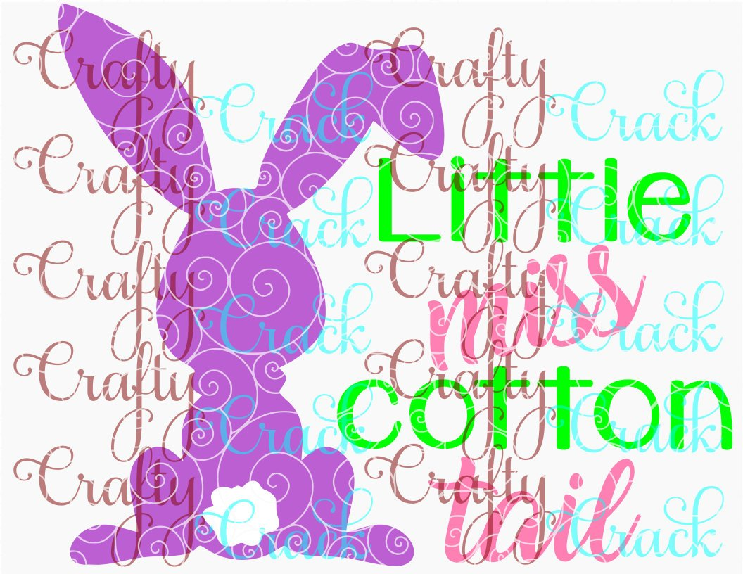 Little Miss Cotton Tail Svg Dxf Png Digital Download For Silhouette Studio Cricut Design Space Crafty Crack