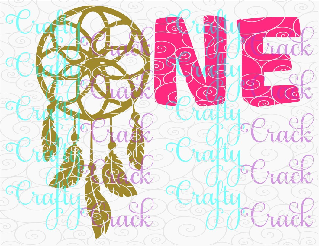 One Dream Catcher 1st Birthday Svg Dxf Png Digital Download For